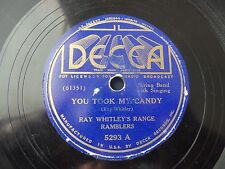 1936 Ray Whitley's Range Ramblers You took my Candy I saw your face in the moon