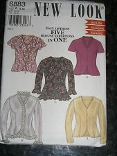 New Look 6883 Blouse 5 options size 8,10,12,14,16,18