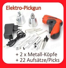 Elektro Pickgun + 26tlg gun PickSet Lockpicking Dietrich Schloss knacken pick
