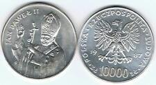 10000 Zl Silbermuenze 1987 Jan Pawel II Papst Silber 19,3 gr!,TOP Zustand
