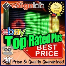 """LED Sign 3Color 19"""" x 53"""" Programmable Scrolling Outdoor Message Display Open"""