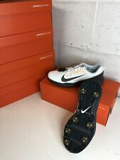 Nike Lunar Command 2 Golf Shoes  UK 9.5  White/Orange