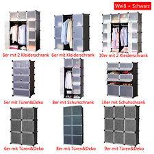 DIY Regal Steckregal Kleiderschrank Regalsystem Schuhregal Aktenregal mit Türen
