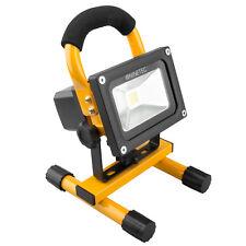 NINETEC 10W LED Akku Strahler Flutlicht Arbeitsleuchte Baustrahler Gelb tragbar