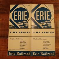 1955 Erie Railroad Time Tables Travel Brochure Sleeper Cars Pride of Youngstown
