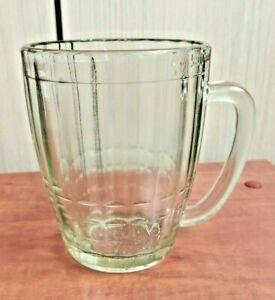 Old BEER /KVASS GLASS MUG w.Sickle & Hammer Hallmark Russian Soviet USSR 500 ml