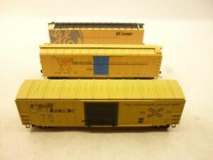 3 x ATHEARN HO gauge 50' BOX CARS - YELLOW,                                    s
