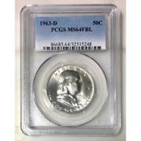 1963 D Franklin Half Dollar PCGS MS64 FBL *Rev Tye's* #524828