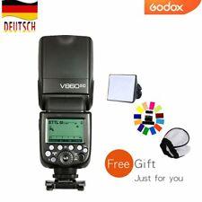 DE Godox V860II-C 2.4G i-TTL HSS Blitz Speedlite mit Akku für Canon Kamera