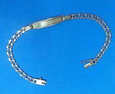 PULSERA-ESCLAVA  con chapa para grabar en Oro de 18 ktes  Peso 5,90 gr.