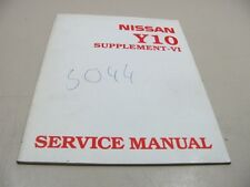 NISSAN y10 1998 Sunny Officina Manuale Repair Manual Supplement
