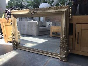 Stunning 19th century gilt overmantel mirror