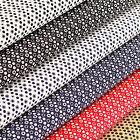 Cotton Fabric per Fat Quarter Circle Floral Retro Polka Dot Spot FabricTime VK85