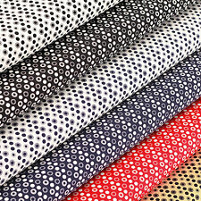 Cotton Fabric Fat Quarter Circle Floral Retro Polka Dot Spot Sew FabricTime VK85