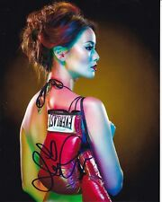 JAMIE CHUNG Signed SEXY EVERLAST BOXING GLOVES Photo w/ Hologram COA