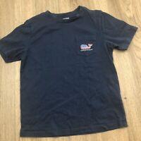 Vineyard Vines Boys T-shirt Tee Sz 7 Navy EUC K