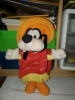 Disney 3 Caballeros Goofy with Poncho & Sombrero Plush By Playskool
