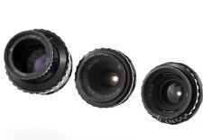 Set Mir-11 12.5mm Vega-7-1 20mm Tair-41 50mm f2 cine lens Kiev-16U camera BMPCC