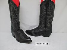 DAN POST BLACK SOFT LEATHER COWBOY WESTERN BOOTS Size 8 D Style 16791