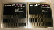 "LOT OF TWO REEL TO REEL TAPE MAXELL UD/LN 35-180 10.5"" X 1/4"" METAL REEL"