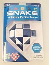 Magic Snake Blue Twisty Puzzle Nostalgic Toy Create Endless Shapes