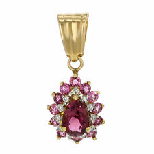 Echte Diamanten-Halsketten & -Anhänger aus Gelbgold mit Tropfen