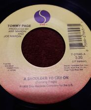 """TOMMY PAGE """"A SHOULDER TO CRY ON"""" AND """"CHRISTMAS WITHOUT YOU"""" RECORD 45 RPM"""