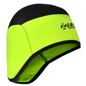 Zimco Windstopper Cycling Skull Cap Running Beanie Thermal Head Warmer Neon