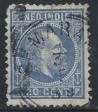 Netherlands Indies #12(1) 1870-88 20 cent ultra WILLIAM III SEMARANG May 3, 1889
