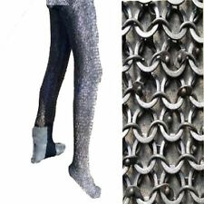 Chain mail leggings 6 mm Round Riveted Flat Washer 6 mm leggings Black
