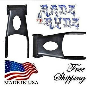 """2008-2016 Ford F250 F350 2"""" Drop Lowering Shackles Lowering Kit Leveling Kit"""