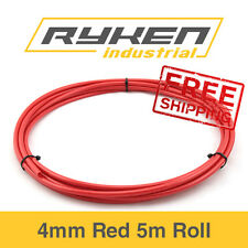 4mm Hose Flexible - Nylon - Red / Tube - Pneumatic Air Line / 5m Roll