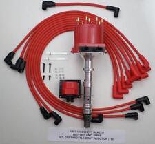 87-94 CHEVY BLAZER GMC JIMMY 5.7L 350 TBI DISTRIBUTOR +COIL + SPARK PLUG WIRES