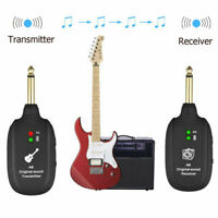 Wireless System Transmitter Receiver UHF Rechargeable For Electric Guitar Bass