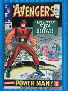 AVENGERS # 21 - (VF/NM) -1ST POWER MAN,CAPTAIN AMERICA,WASP,CAPTAIN AMERICA,TOAD
