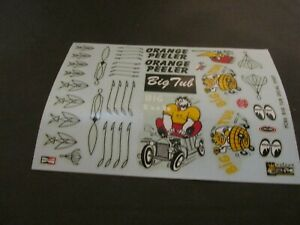 Monograms BIG TUB decal sheet for 1/8th scale models