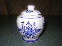 Vintage Delft Condiment Jar Honey Pot Handpainted Holland Windmill EH9810473