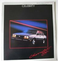 1984 Chevrolet Celebrity and Eurosport 20-page Sales Brochure Catalog - Chevy