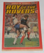 ROY OF THE ROVERS COMIC 3RD JULY 1982 PELE OF BRAZIL