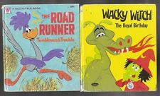 Vtg Tell A Tale Childrens Books Wacky Witch The Road Runner Tumbleweed Trouble