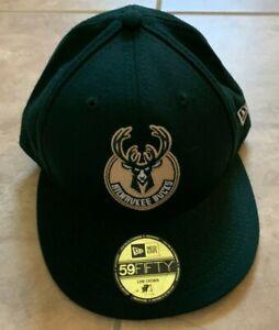New Era 59Fifty Milwaukee Bucks Green Hat Cap Men's 7 1/4 NEW w/ Decal