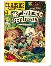 Classics ILL 42 (1947): Swiss Family Robinson: Orig: FREE to combine: Fair/Good