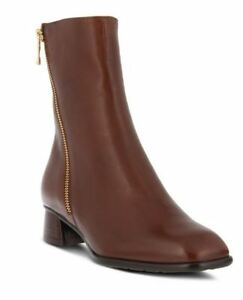 New In Box Womens Spring Step GIACHETTA-BR Brown Leather Ankle Boots