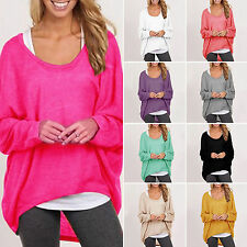 New Womens Plus Size Batwing Sleeve Blouse Shirt Pullover Baggy Loose Top Jumper