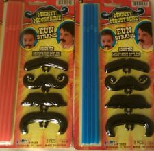 Mighty Moustache Fun Mustache Straws Ja-Ru (2 Packs)