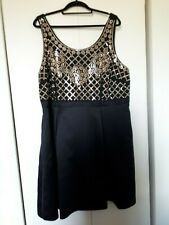 Penningtons Dress with Small Domed Metal Studs Black Size 1X Cocktail Dress