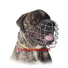 Bullmastiff Dog Muzzle for Large Dogs Soft Padded Wire Basket Cage UK Bestseller
