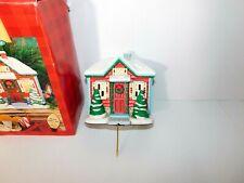 Vintage Hallmark Light Up Holiday House Christmas Stocking Hanger with box
