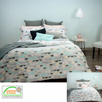 Eve Grey Reversible Comforter Set by Apartmento - SINGLE or QUEEN