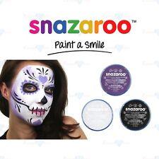 Snazaroo SKULL FACE Halloween Black, White & Purple Face & Body Paint Make Up